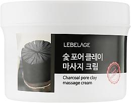 Духи, Парфюмерия, косметика Массажный крем для лица на основе древесного угля - Lebelage Charcoal Pore Clay Massage Cream