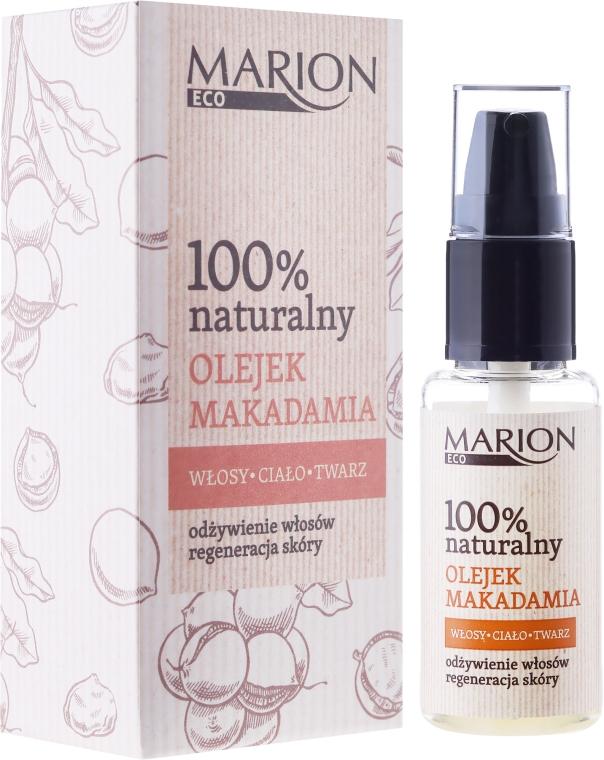 Масло для волос, тела и лица из орехов макадамия - Marion Eco Oil