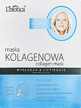 "Духи, Парфюмерия, косметика Маска для лица ""Коллагеновая"" - L'biotica Home Spa Collagen Mask"