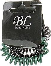 Духи, Парфюмерия, косметика Набор резинок для волос, 405004, черная+темно-зеленая+черная - Beauty Line