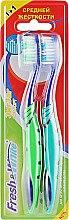 """Духи, Парфюмерия, косметика Набор """"Зигзаг комфорт"""", средней жесткости, зеленая + салатовая - Meggi Fresh&White Zigzag Comfort"""