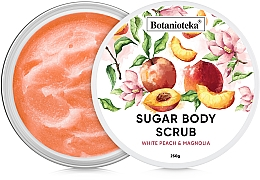 "Духи, Парфюмерия, косметика Сахарный скраб для тела ""Белый персик и магнолия"" - Botanioteka Sugar Body Scrub White Peach & Magnolia"