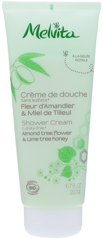 Крем для душа - Melvita Body Care Almond Tree Flower & Lime Tree Honey Shower Cream