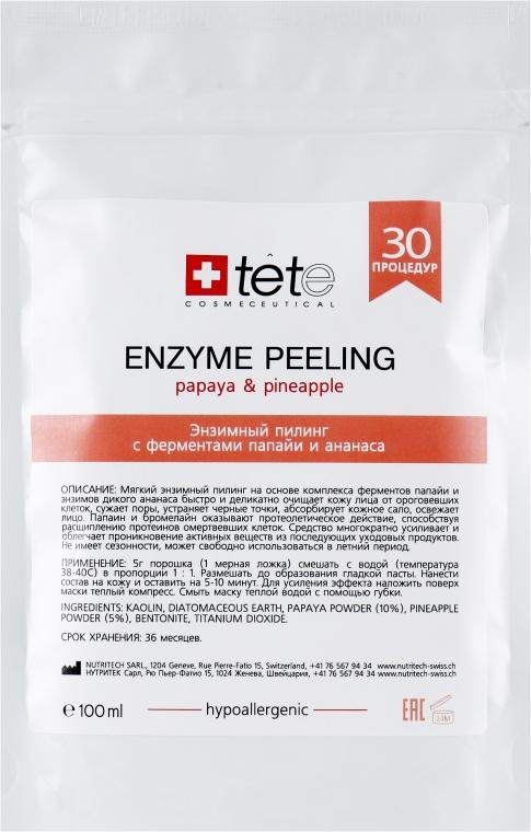 Энзимный пилинг с ферментами папайи и ананаса - TETe Cosmeceutical Enzyme Peeling