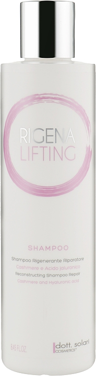 Шампунь восстанавливающий - Dott. Solari Rigena Lifting Shampoo Regenerating Repairer