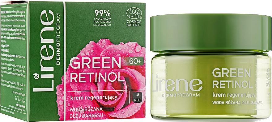 Регенерирующий ночной крем для лица - Lirene Green Retinol Regenerating Night Cream 60+