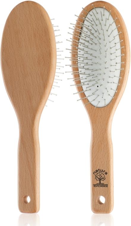 Массажная щетка для волос, 4773, со светлым деревянным корпусом - Top Choice