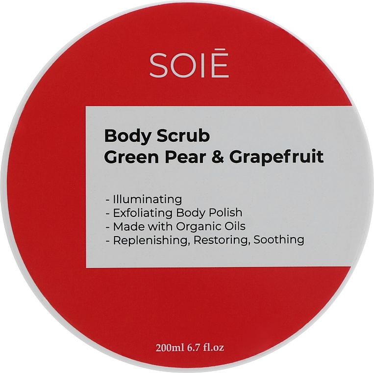 "Скраб-пилинг для тела ""Зеленая груша и грейпфрут"" - Soie Green Pear & Grapefruit Body Scrub"