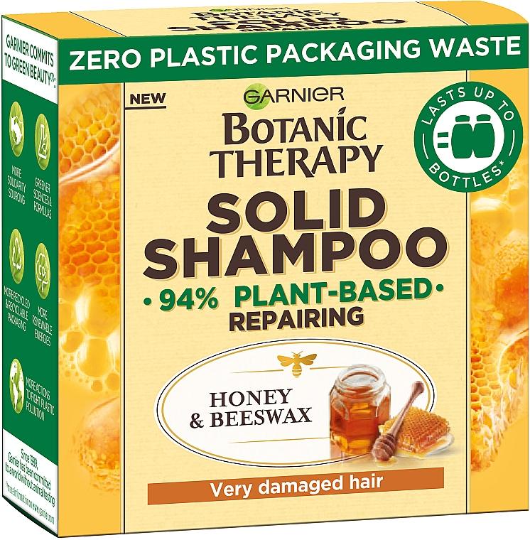 """Твердый шампунь для очень поврежденных, секущихся волос """"Мед и Пчелиный воск"""" - Garnier Botanic Therapy Solid Shampoo"""