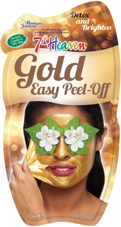 Маска-пленка для лица с золотом - 7th Heaven Gold Easy Peel-Off Face Mask