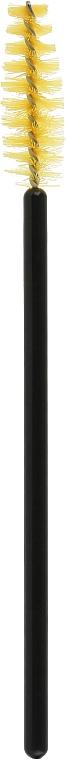 Одноразовая щеточка для ресниц и бровей, желто-черная - Vie de Luxe