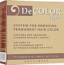 Парфумерія, косметика Змивка стійкої фарби для волосся - Decolor Time System For Removing Permanent Hair Color