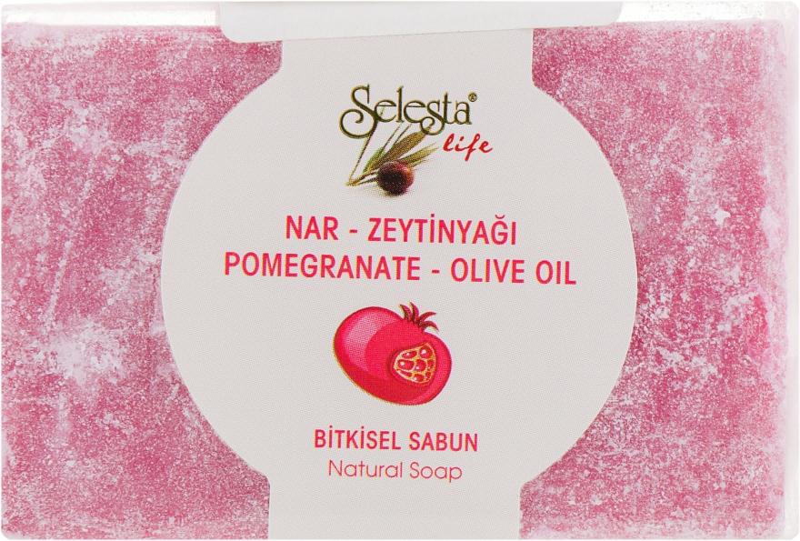 Растительное мыло с гранатом и оливковым маслом - Selesta Life Soap