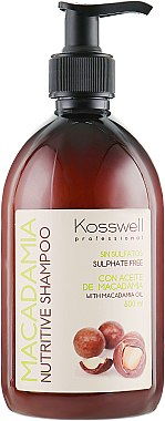 Питательный шампунь - Kosswell Professional Macadamia Nutritive Shampoo Sulfate Free
