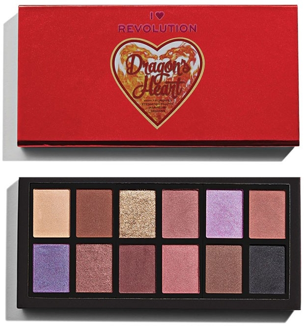 Палетка теней для век - I Heart Revolution Dragon'sHeart Eyeshadow Palette