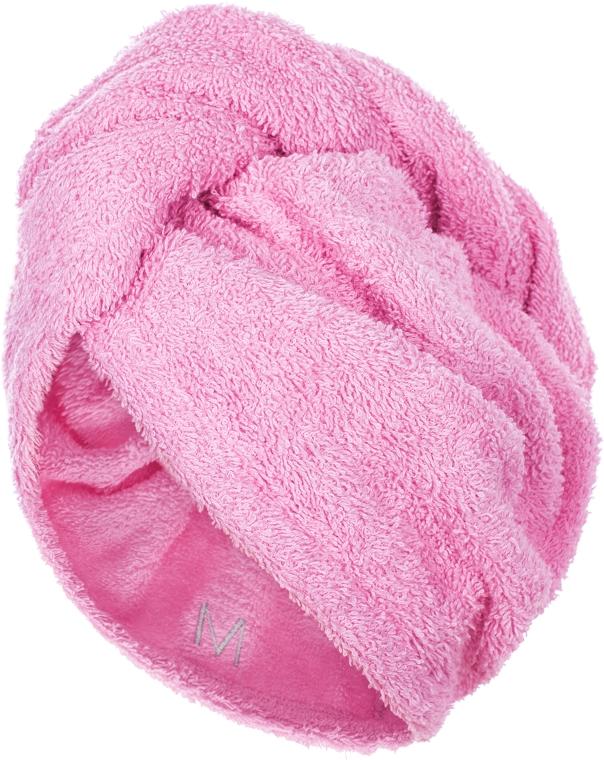 Полотенце-тюрбан для сушки волос, розовое - Makeup