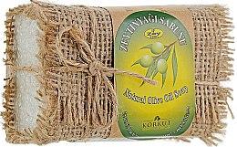 """Духи, Парфюмерия, косметика Натуральное оливковое мыло """"Олива"""" на деревянной подставке - Olivos Korkut Olive Oil Soap With Wooden Dish"""
