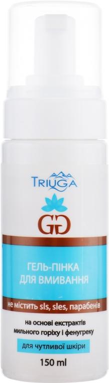 Гель-пенка для умывания «Золотая Богиня» на основе экстрактов мыльного ореха и фунугрека - Triuga