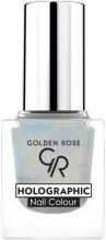 Духи, Парфюмерия, косметика Лак для ногтей - Golden Rose Holographic Nail Colour