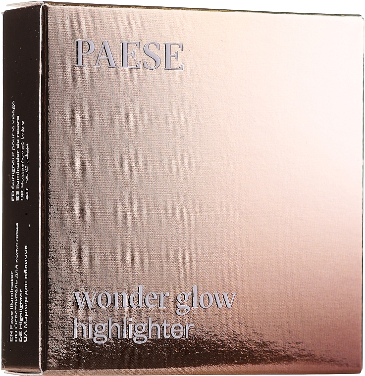 Компактный хайлайтер для лица и тела - Paese Wonder Glow Highlighter