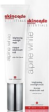 Духи, Парфюмерия, косметика Маска для лица, осветляющая - Skincode Essentials Alpine White Brightening Overnight Mask