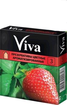 """Презервативы латексные """"Цветные ароматизированные"""", 3шт - Viva"""