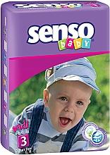 Духи, Парфюмерия, косметика Подгузники Senso Baby Midi 3 (4-9 кг) 70 шт - Senso Baby