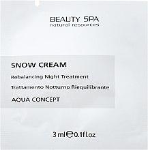 Духи, Парфюмерия, косметика Восстанавливающий антивозрастной себум-баланс - Beauty Spa Snow Cream (пробник)