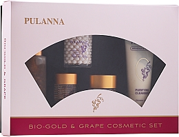 Духи, Парфюмерия, косметика Набор - Pulanna Bio-gold & Grape (f/cr/2x58g + eye/cr/21g + f/ton/90g + f/milk/90g)