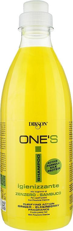 """Шампунь против перхоти, и для жирных волос """"Имбирь-бузина"""" - Dikson One's Igienizzante"""