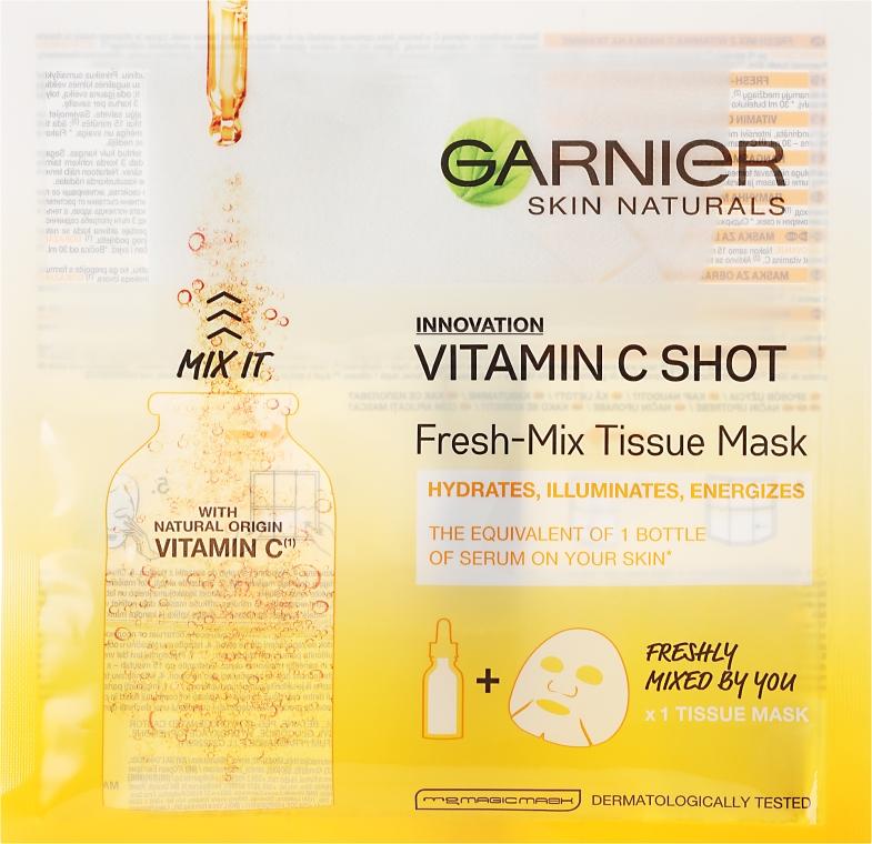 Тканевая маска с витамином C - Garnier SkinActive Fresh-Mix Sheet Mask with Vitamin C