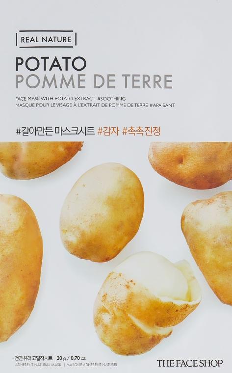 Успокаивающая маска с экстрактом картофеля - The Face Shop Real Nature Mask Sheet Potato