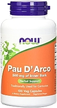 "Духи, Парфюмерия, косметика Капсулы ""Кора муравьиного дерева"" 500 mg - Now Foods Pau D'Arco"
