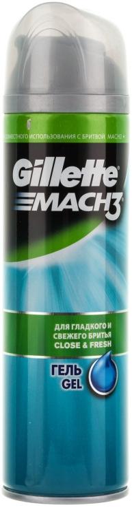 """Гель для бритья """"Для гладкого и свежего бритья"""" - Gillette Mach3 Close and Fresh Shave Gel For Men — фото N1"""