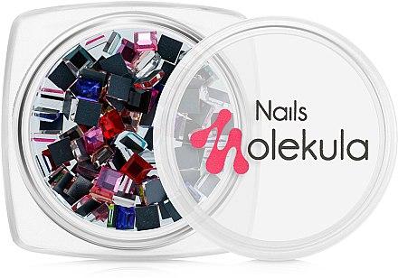 Стразы для дизайна ногтей, квадратные - Nails Molekula