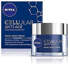 Духи, Парфюмерия, косметика Ночной антивозрастной крем - Nivea Cellular Anti-Age Skin Rejuvenation Night Cream