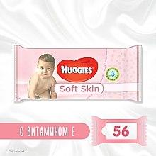 Духи, Парфюмерия, косметика Детские влажные салфетки Soft Skin, 56шт - Huggies