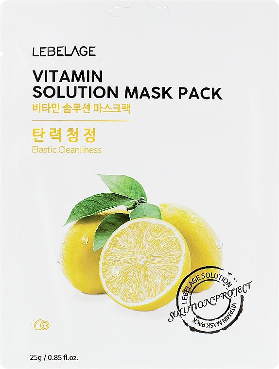 Тканевая маска для лица - Lebelage Vitamin Solution Mask