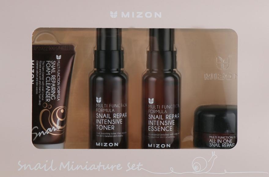 Набор миниатюр - Mizon Snail Miniature Set (f/foam/30ml + f/toner/50ml + f/essence/50ml + f/cr/35ml)