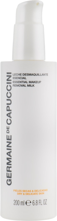 Молочко очищающее для сухой и чувствительной кожи - Germaine de Capuccini Options Essential Makeup Removal Milk