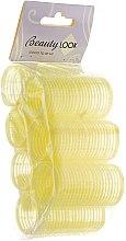 Духи, Парфюмерия, косметика Бигуди с липучкой, желтые, 7шт - Beauty Look