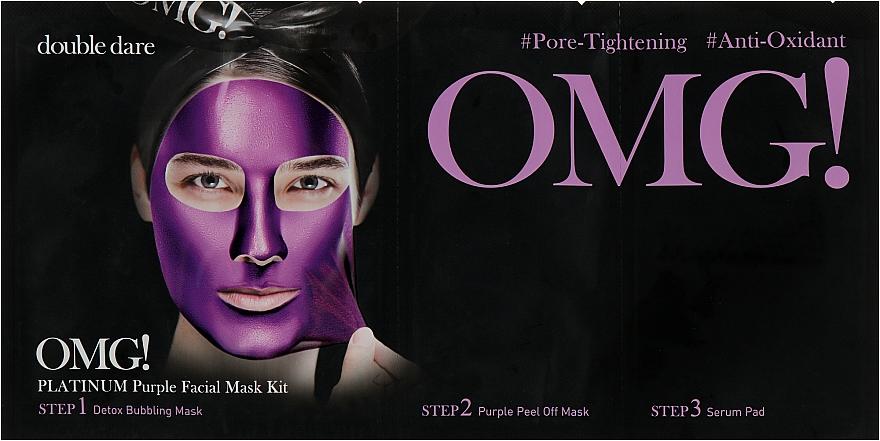 """Комплекс масок трехкомпонентный """"Глубокое увлажнение и релакс"""" - Double Dare OMG! Platinum Purple Facial Mask Kit"""