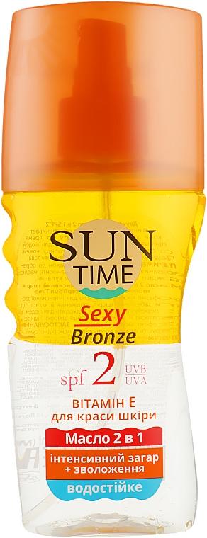 """Масло """"Интенсивный загар+увлажнение"""" SPF 2 - Биокон Sun Time Sexy Bronze"""