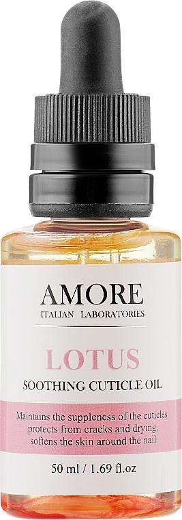 Концентрированное смягчающее масло для ногтей и кутикул с лотосом - Amore Lotus Soothing Cuticle Oil