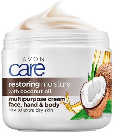 Интенсивно восстанавливающий крем для тела, лица и рук с кокосовым маслом - Avon Care — фото N1