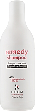 Духи, Парфюмерия, косметика Восстанавливающий шампунь с растительным кератином и маслом оливы - Krom Remedy Shampoo