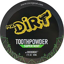 Духи, Парфюмерия, косметика Зубной порошок для отбеливания зубов с глиной - Cocogreat Mr.Dirt Super Mint Toothpowder