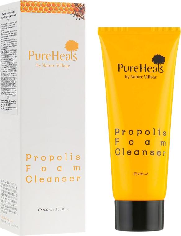 Очищающая пенка с экстрактом прополиса для чувствительной кожи - PureHeal's Propolis Foam Cleanser