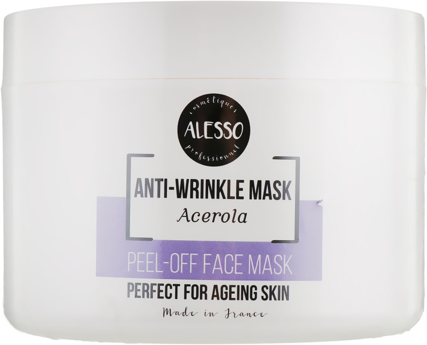 Маска для лица альгинатная против морщин с ацеролой - Alesso Professionnel Alginate Anti-Wrinkle Peel-Off Face Mask With Acerola
