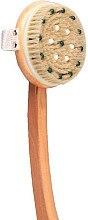 Духи, Парфюмерия, косметика Массажная щетка банная для тела 1901, с деревянной ручкой - Top Choice Wooden Brush Massager